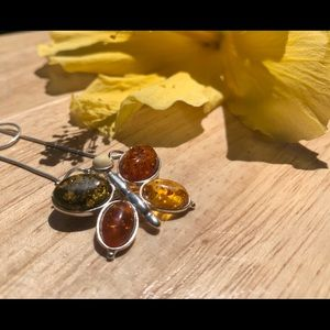 Tri color dragonfly Baltic Amber butterfly 🦋